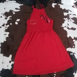 Little Red dress by sequin hearts